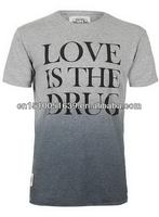 Wholesale plus size clothing men's t shirt with printed