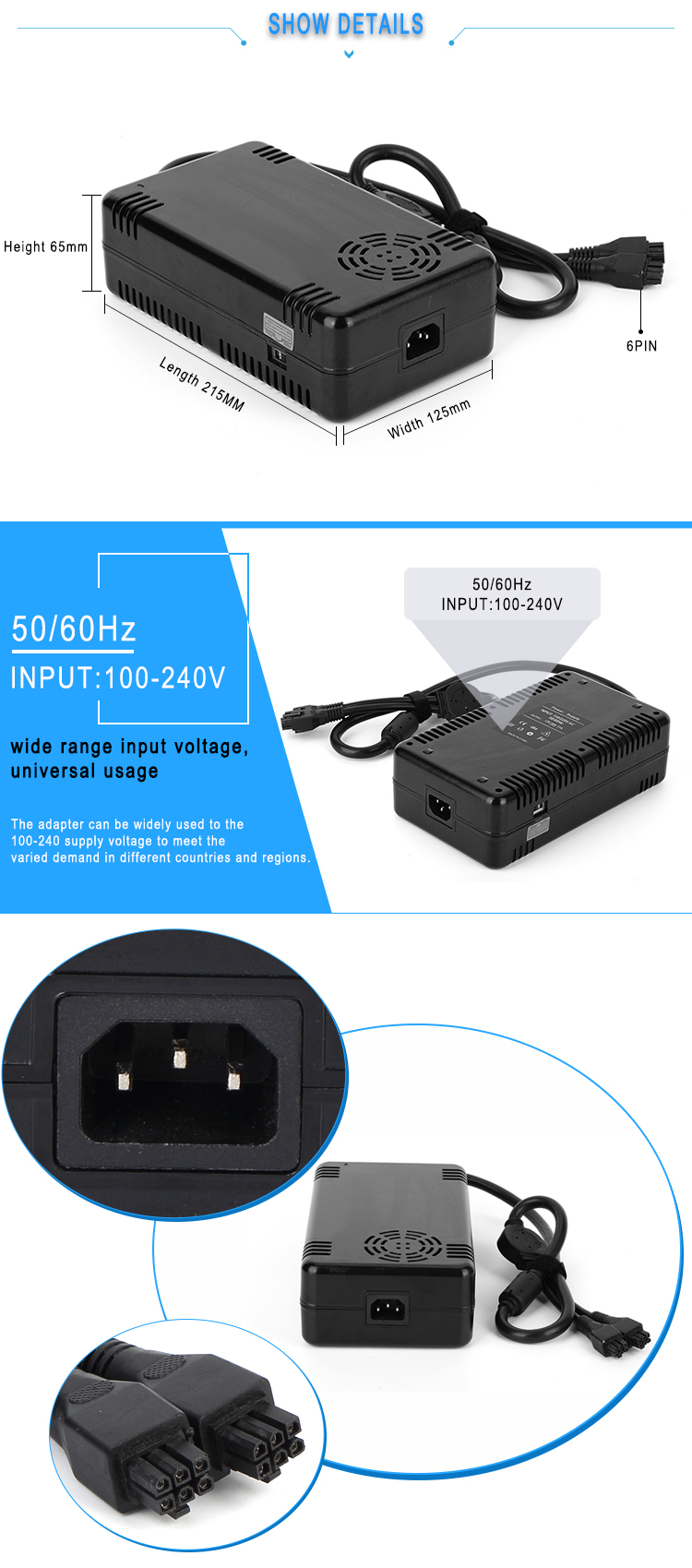 32v 15a ac dc power supply 480w dc power supply with CE FCC RoHS