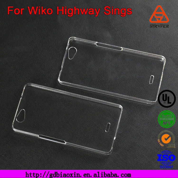 For Wiko Highway Sings PC transparent case for 3D sublimation