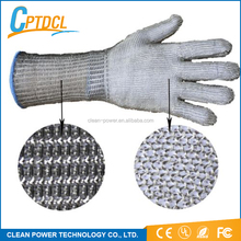 Best Selling Butcher Anti-Cut Gloves Industrial Metal Mesh Wire Safety Work long Cut Resistant Gloves