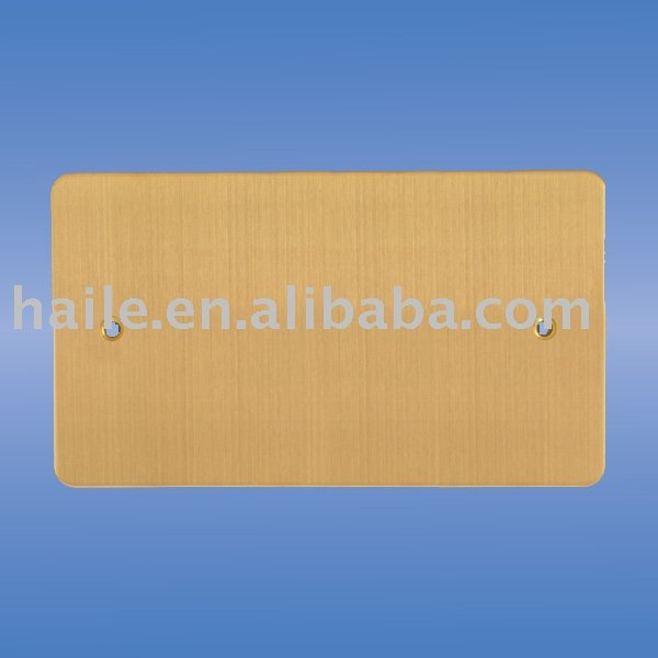 British Standard metal plate 2 gang Blank Plate( BS switch)