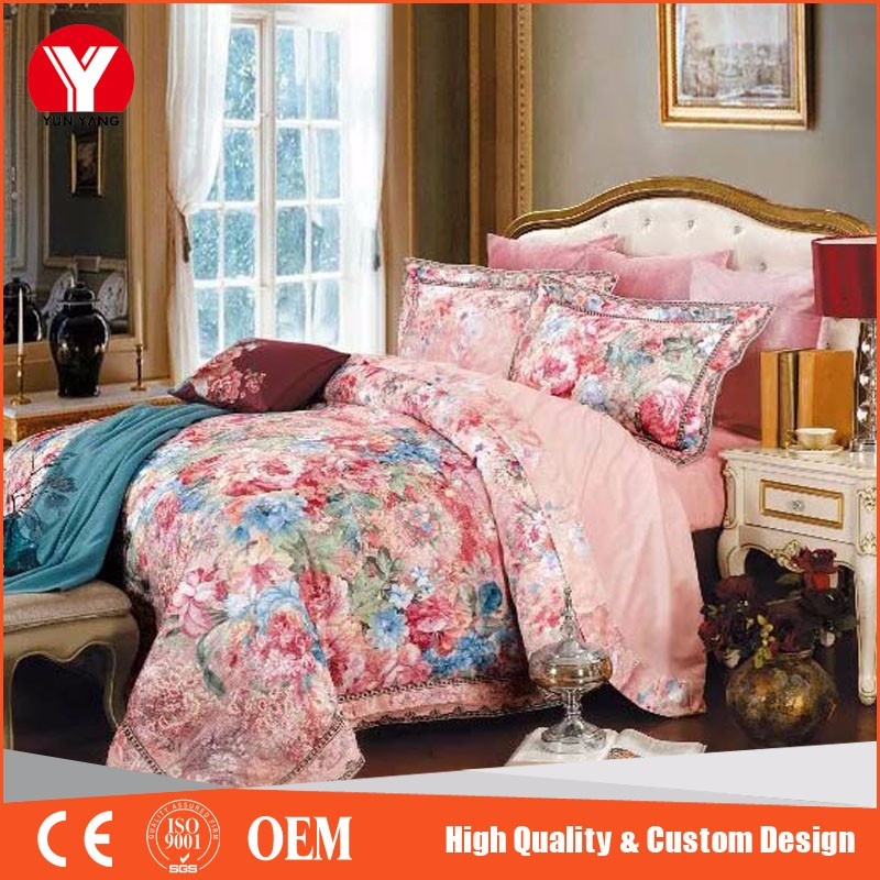 Flower microfiber 3d new bed sheet design