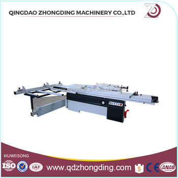 Blade tilt sliding table panel saw with ABS board