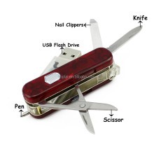 Multi-function Swiss army knife Usb Flash Drive Multitool Knife 8G16G 32G 64G Memory Stick Pendrive Pen Drive with Nail Clippers