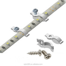 LED Strip Mounting Bracket Fixing Clip-One Side Fixing,Screws Included,White and Transparent