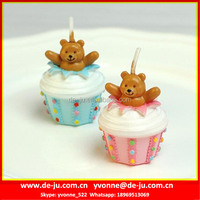Bear In Ice Cream Cake Shaped Animated Birthday Candles