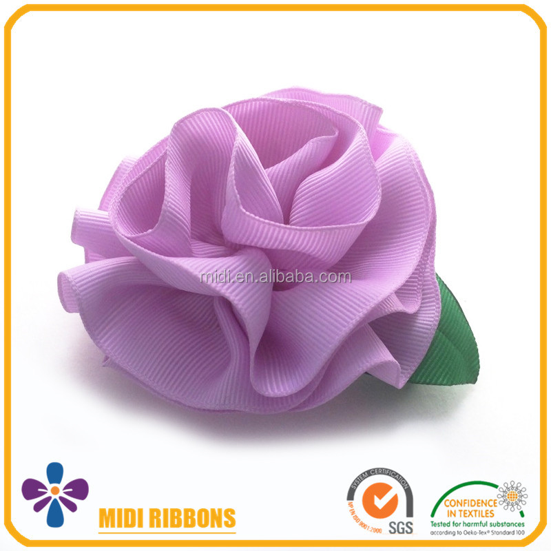 Hot Selling Ribbon Flower Hair Clips Baby Hair Accessories