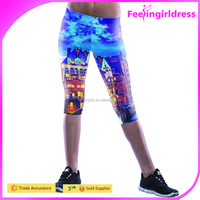 Blue Galaxy Printed Sport Fitness Sexy Indian Hot Sex Tight Photos Legging