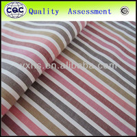 100% compact cotton striped shirt fabric