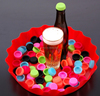 colorful customized logo plastic beer bottle crown cap, used beer bottle caps