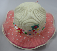 Custom cute ear bear children hat Baby paper straw hat