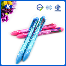2016 fashion four color core metal ballpoint pen for office and school