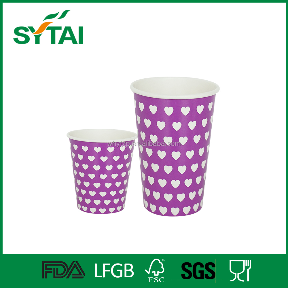 Print paper coffee cups food container for rice burger