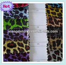 Fashion leopard surface PU synthetic/artificial leather used for handbags bags