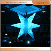 wholesale inflatable night club decoration, multicolor led light star inflatables for sale