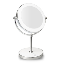WB-JYD-MM01 7X magnifier USB chargeable led round makeup mirror with light LED