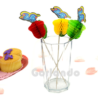Colorful butterfly wholesale party decorative picks