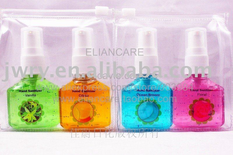 4PK HAND SANITIZER WITH LOTION PUMP POUCH PACK-NEW UPDAGING IN Dec. 2010!!!