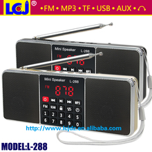L-288 the best two speakers stereo sound usb fm radio with speaker