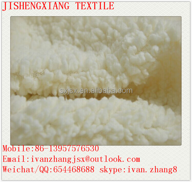 Jishengxiang textile Composite cotton velveteen Sherpa Fleece Fabric for young people