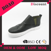 Latest design summer high top neck leather casual ankle sneakers shoes for men