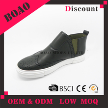 Latest design summer high top sneakers neck leather casual ankle shoes for men