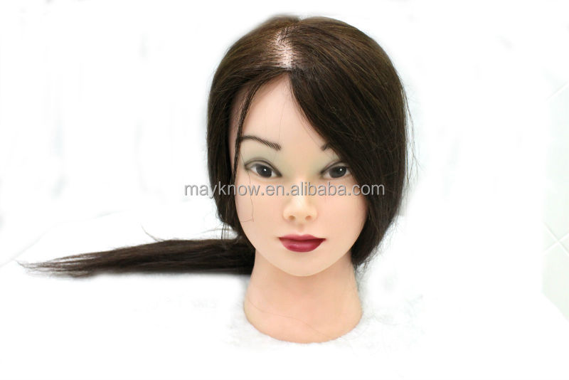 mannequin head synthetic hair human hair practice head head with natural hair