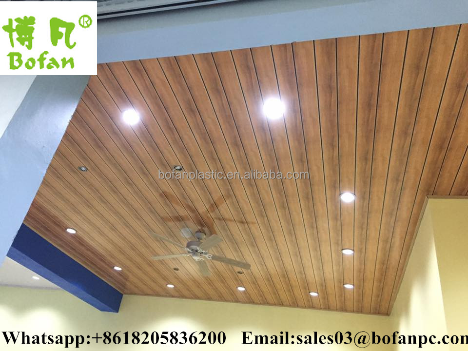 wooden color PVC wall,PVC ceiling panel,China manufacturer PVC ceilings