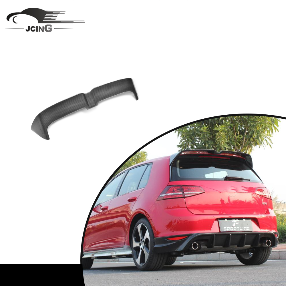 Carbon Fiber rear wing spoiler for V <strong>W</strong> GOLF VII 7 GTI Bumper 2014 UP