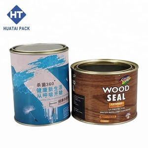 1L round tin can, grease container, paint tin can any size tinplate paint cans