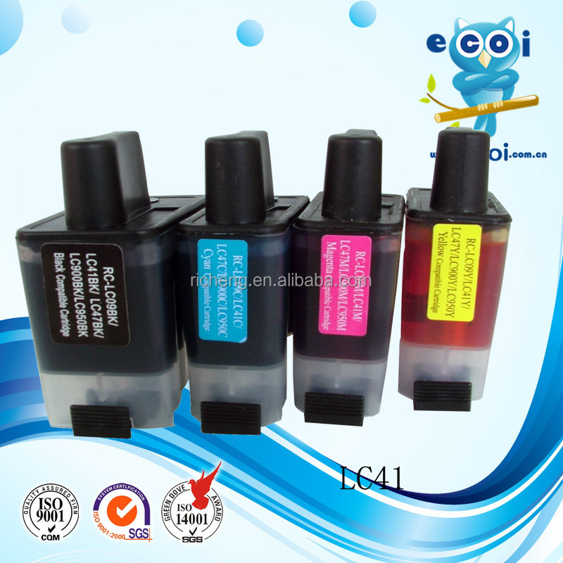 Ink Cartridge LC41 LC47 / LC09 / LC900 / LC950 , Color inkjet china supplier world best selling products