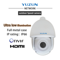 ultra low illumination level ip 1080p outdoor waterproof intelligent integrated speed dome camera