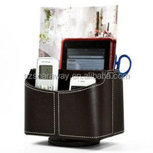 Revolving Leather Remote Control & Magazine holder for home