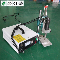 Ultrasonic handheld spot welding machine and equipment for artificial leather and nylon welding