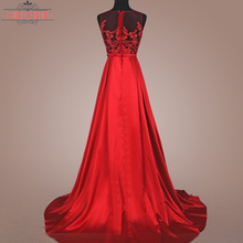 Traditional formal red beaded evening gown dress wholesale