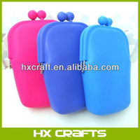 Women Rubber Silicone Cosmetic Makeup Bag Coin Purse Wallet Cellphone Case