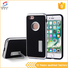Anti-scratch carbon fiber kick stand case for iphone 6s