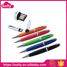 Oem/odm Cheap 32GB Pen Drive USB Flash Drive Jump Drive with Ballpoint Pen and Touch Pen