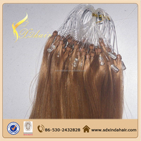 Micro Ring Easy Loop Pre-bonded Remy Indian Human Hair Extensions