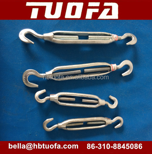 forged HDG turnbuckle eye to eye /hook to hook /eye to clevis