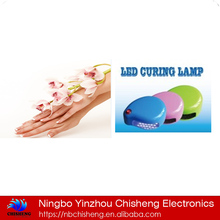 household DIY easy operating MINI 2W led nail gel lamp
