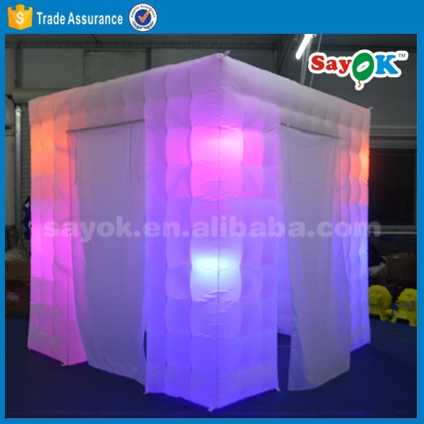 Wholesale LED wedding inflatable photo booth tent frames enclosure for sale