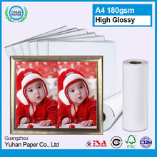 High quality printable a4 180gsm size fuji inkjet paper wholesale cheap waterproof high glossy photo paper