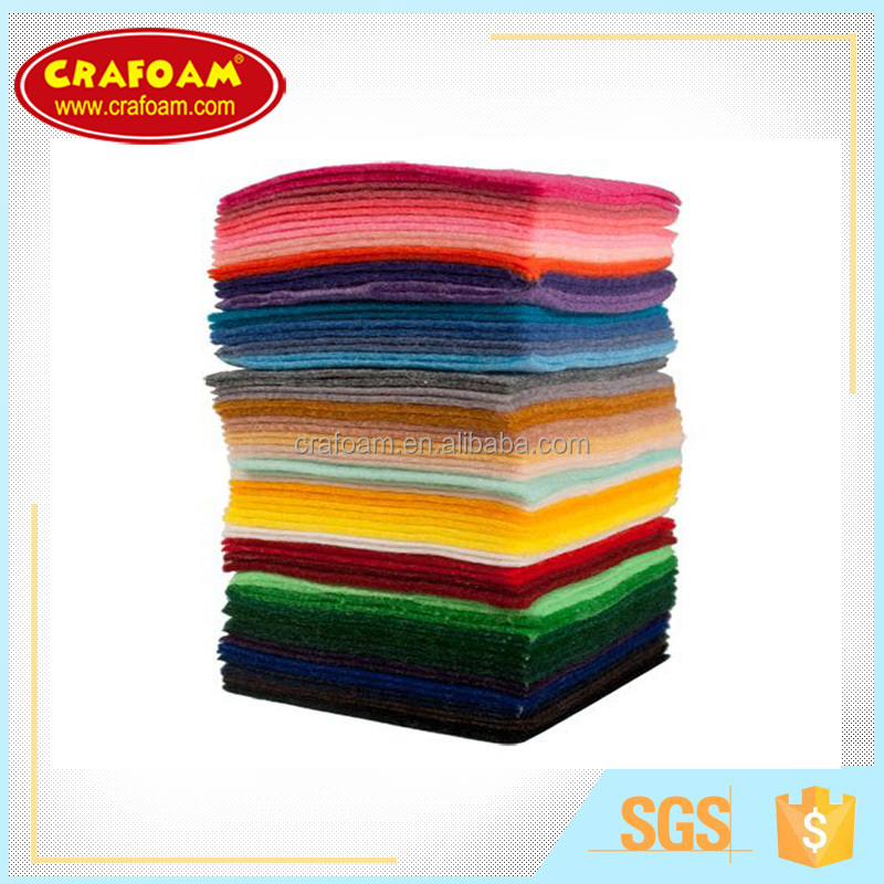 1mm 2mm 3mm Eco-Friendly polyester felt nonwoven fabric sheets for crafts