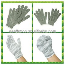 string knit work gloves safety cotton white work gloves for industrial SJIE12092-6