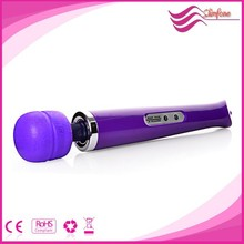 2015 hot selling 10 speeds rechargeable magic wand Massager,av vibrator toys,top sex products