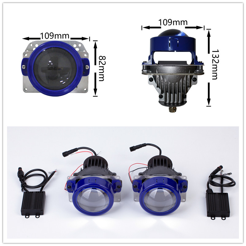 Brand new Auto led 12V hi/L beam high result wide,long distance 4300K-6500K e-mark bi-led projector vw jetta projector headlight