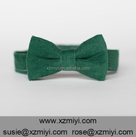 Kids Bow Ties corduroy green Tie Bow for Girls Boys Infant Toddler