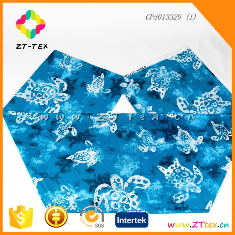 ZTTEX dyeing printing cotton fabric poplin with Sea turtle pattern