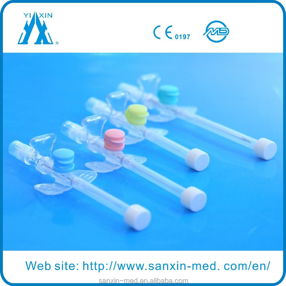 Disposable safety i v supplies iv catheter